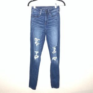 American eagle high rise jegging distressed sz 4
